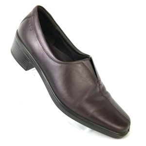 ECCO BROWN HEEL DRESS SHOES STRETCH SUPPORT